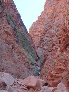 Kehlen während des canyon Yagour.