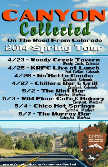 2014 - Canyon Collected Spring Tour Dates
