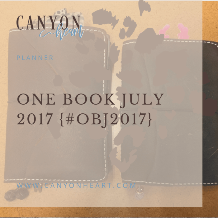 One Book July 2017 graphic
