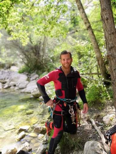 Guide de canyoning des Alpes Maritimes.