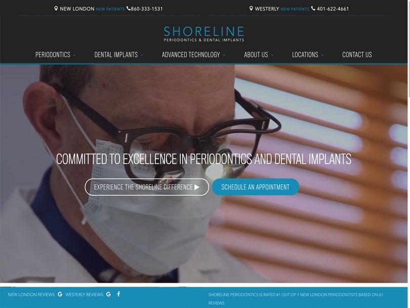 Shoreline Periodontics - Portfolio - Cao Creative