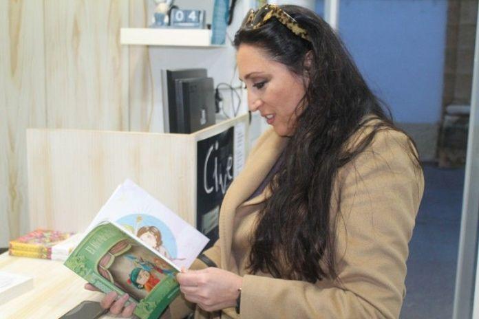 Ana del Corral en una la librería El Aprendiz de Puerto Real.