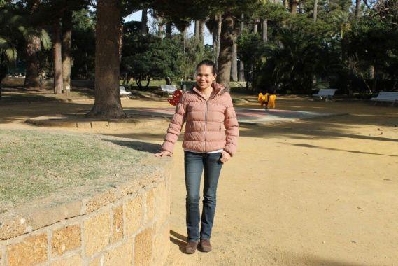 Astrid Bibiana Rodríguez en el Parque Genovés de Cádiz.