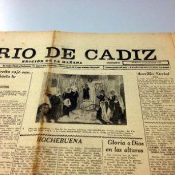Portada del 'Diario de Cádiz' del 24 Diciembre 1939.