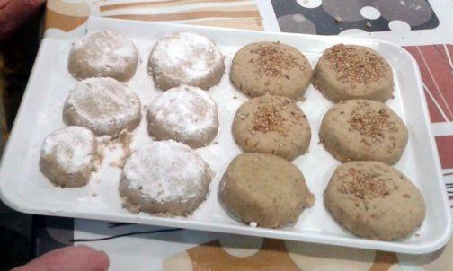 Polvorones, los dulces más tradicionales de estas fiestas.