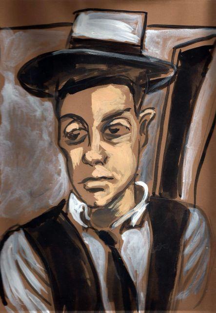 Buster Keaton. Ilustración de Manuel Martín Morgado.