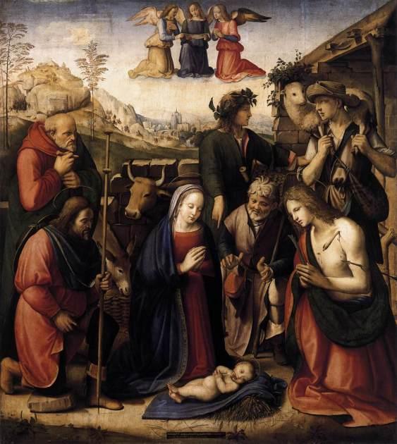 'Adoración de los pastores'. Ridolfo Ghirlandaio.