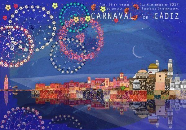Cartel del Carnaval de Cádiz de este año, obra de José Alberto López.