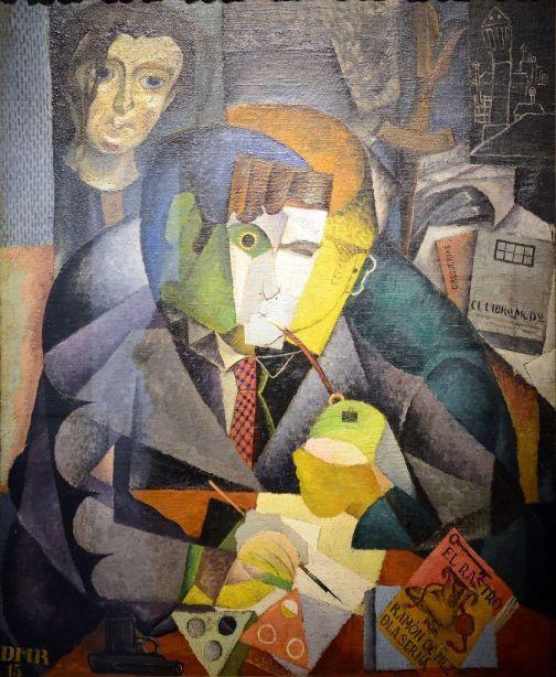 Ramón Gómez de la Serna retratado por Diego Rivera.