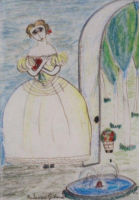 Mariana Pineda en un dibujo de Federico García Lorca.