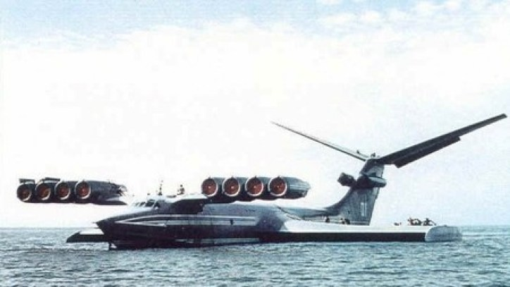 El Ekranoplano o Monstruo del Caspio