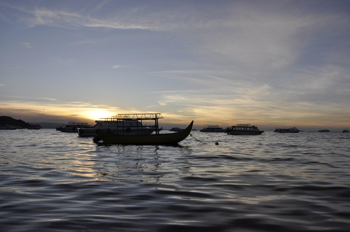 J+68 Pédaler sur le lac Titicaca…