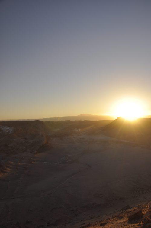J+56 Un coucher de soleil sur la Vallée de la Lune…