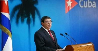 """Canciller cubano, Bruno Rodríguez Padilla, presentó el """"Informe sobre impacto del bloqueo de Estados Unidos contra Cuba"""""""