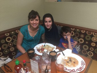 Breakfast date before the beginning of Ramdan