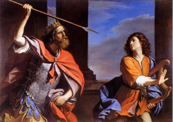 le-guerchin-saul-tenta-di-uccidere-david-con-la-lancia-saul-attacking-david-saul-attaquant-david-1646