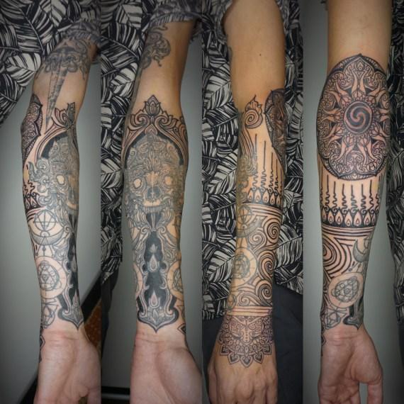 Full sleeve tattoo for man