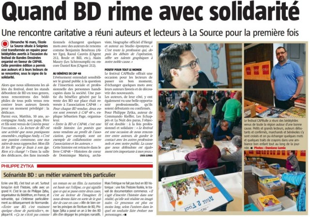 Article Nouvelle Gazette CAP Bulles
