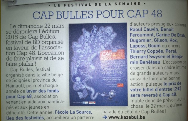 CAP Bulles dans Spirou
