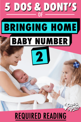 """Bringing home baby number 2 isn't the same - you have older siblings in the mix! Plus, the checklist is different, hospital bag, nursery, breastfeeding, birth plan etc.The """"been-there-done-that"""" approach just doesn't cut it with a second baby. But this WILL! #babynumber2 #oldersiblings #preparingforbaby #secondbaby"""
