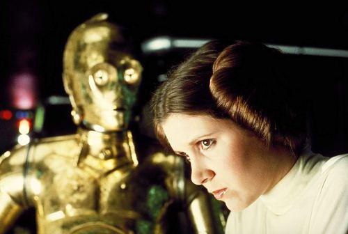 C3PO and Leia