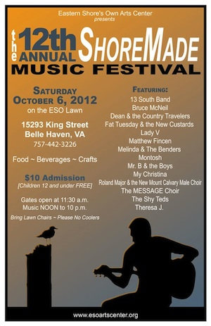 SATURDAY 10/6: Shore Made Music Festival in Belle Haven ...