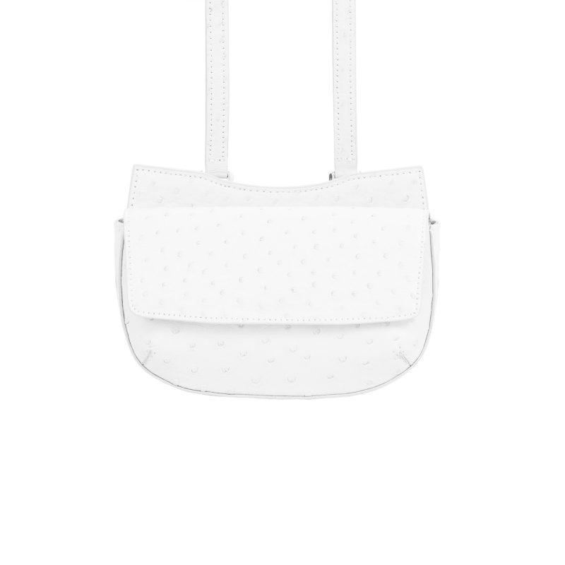 Fallow Beltbag in White Ostrich 3