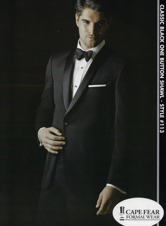 Classic Black One Button Shawl