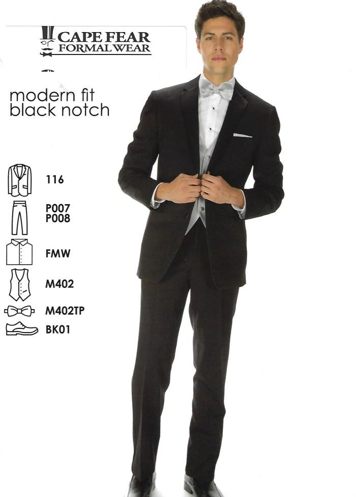 Modern Fit Black Notch