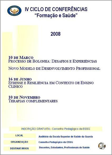Ciclo sobre Saúde - IPG - Instituto Politécnico da Guarda - Capeia Arraiana