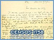 Censos 1758 - © Capeia Arraiana