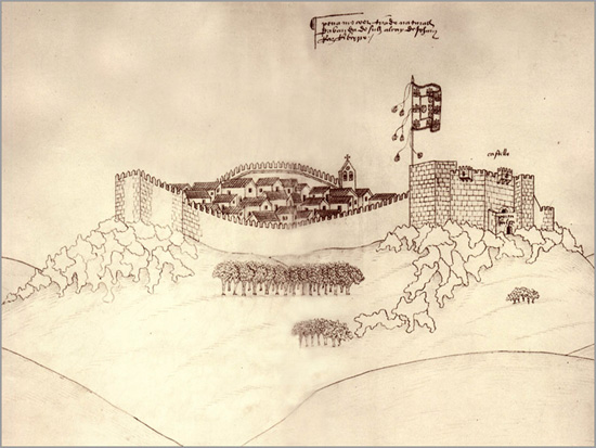 Gravura Castelo Penamacor - Capeia Arraiana