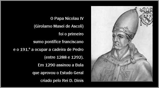 Papa Nicolau IV - Maria Máxima Vaz - Por Terras de D. Dinis - Capeia Arraiana