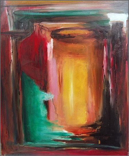 Pintura abstracta de Alcínio Vicente - Sem título
