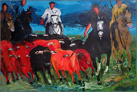 O apartar dos touros, de Alcínio