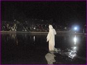 Recriação da Paixão de Cristo - Jesus caminha sobre as águas - Capeia Arraiana