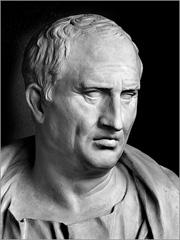 Marco Túlio Cícero. Busto romano do séc. I a.C. - Capeia Arraiana