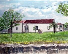 Convento da Sacaparte em Alfaiates - Pintura de Maria C. Ventura - Capeia Arraiana
