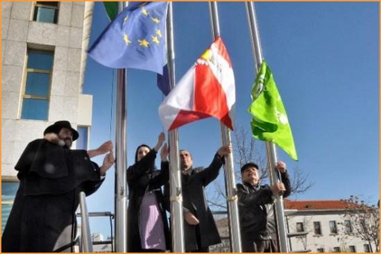 Hastear da Bandeira na Cidade da Guarda - Álvaro Amaro - Capeia Arraiana