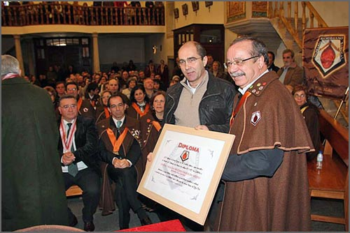 Carlos Rito entrega o Diploma a Rui Carrilho (foto Manuel Monteiro)