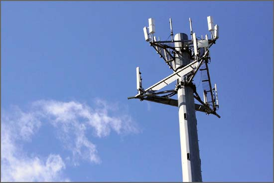 Antenas da rede móvel