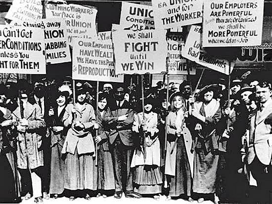 Mulheres em luta pelos seus direitos