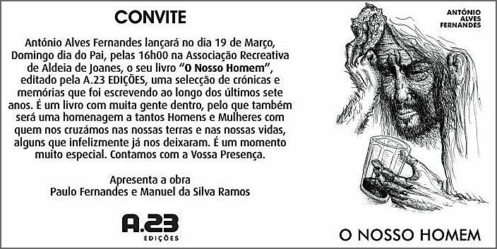 convite - Livro - O NOSSO HOMEM -
