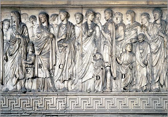 Pormenor do Altar da Paz (Ara Pacis), mandado erguer pelo imperador César Augusto em Roma e inaugurado no ano de 9 a.C. - Adérito Tavares - Capeia Arraiana