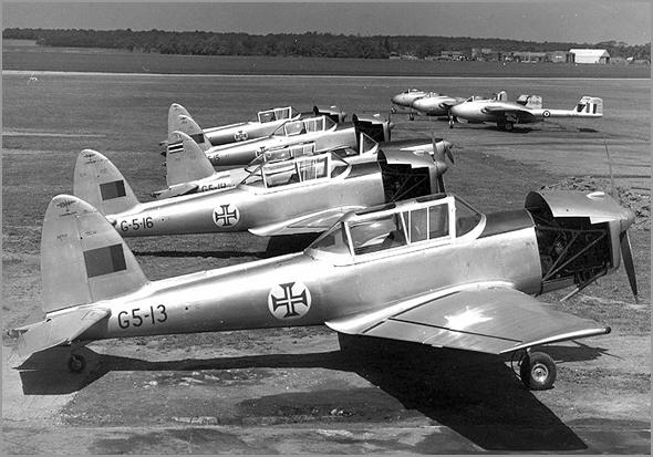 Chipmunk era um avião de  instrução - Capeia Arraiana