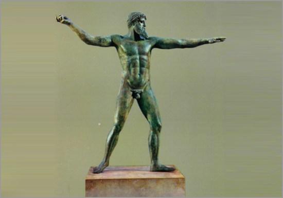 Estátua de Poséidon no Museu Nacional de Arqueologia - Capeia Arraiana