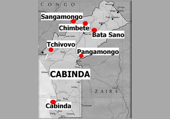 Outro mapa, agora com a marcação concreta  das zonas de intervenção das Companhias do Batalhão - Capeia Arraiana