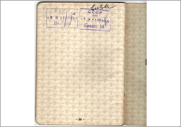 Carimbos de entrada e saída na Rússia no passaporte - Capeia Arraiana
