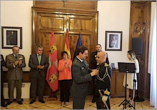 Luís Cunha Rasteiro, comandante do Comando Territorial da GNR da Guarda, recebeu em Salamanca a Medalha da Ordem de Mérito Civil do Governo espanhol