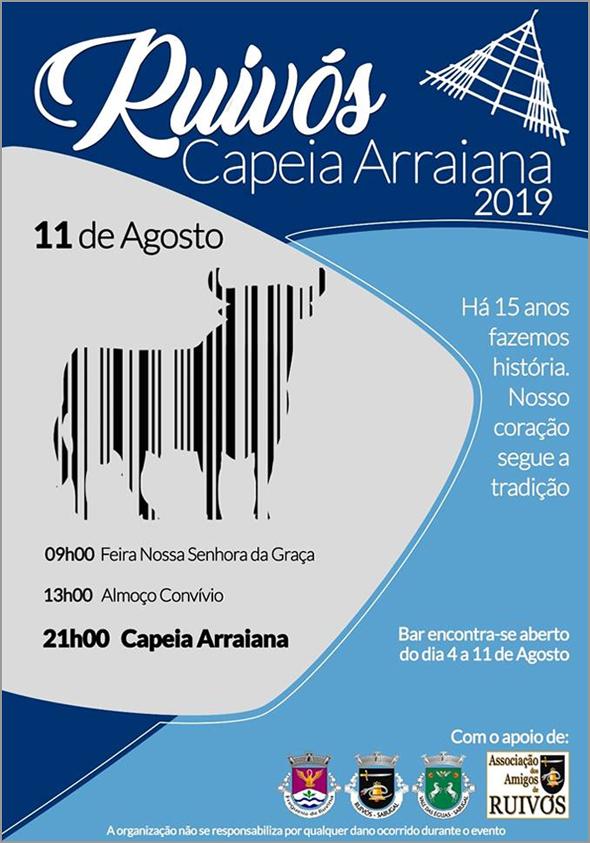 Bom trabalho criativo e gráfico no cartaz da Capeia Arraiana em Ruivós